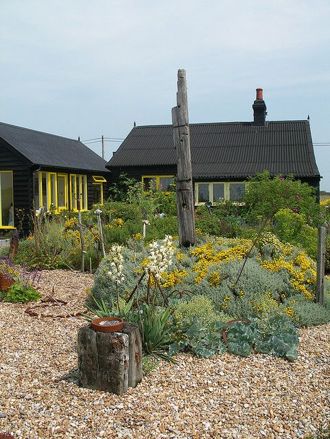 Derek Jarman's garden, Dungeness by chinratee, via Flickr