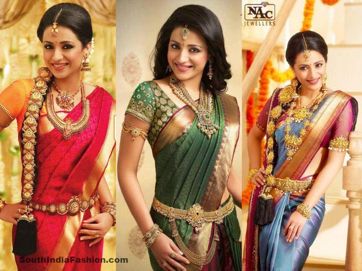 Trisha looking gorgeous in beautiful bridal silk sarees, paired up with designer saree blouses. Related PostsTrisha in Bridal SareesAnushka in Bridal SareeTrisha in Blue Kancheepuram SareeShriya Saran in Kanjeevaram Saree