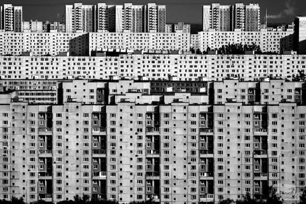 Russian photo competition ... apartment buildings in Moscow.