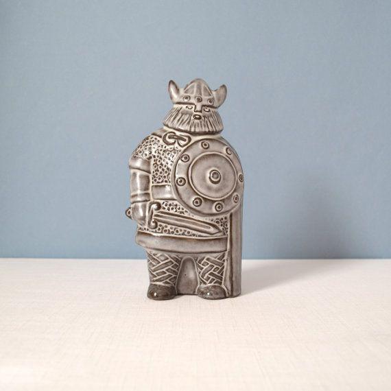 Vintage Large Upsala Ekeby Viking Designed by by MidModMomStore, $150.00