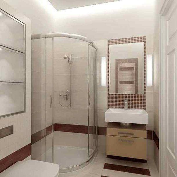 Современный стиль ванной комнаты с душевой кабиной. #душевая_кабина #современный_стиль_ванной_комнаты #небольшая_ванная_комната