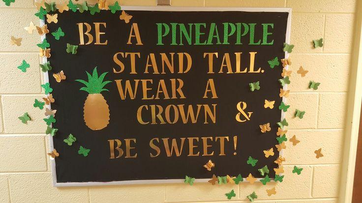 RA bulletin board pineapples