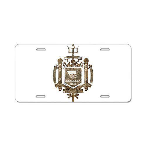 CafePress Académie Navale Coatof Bras en aluminium–Standard de plaque d'immatriculation: Nos meilleures ventes de marine et de l'Académie…