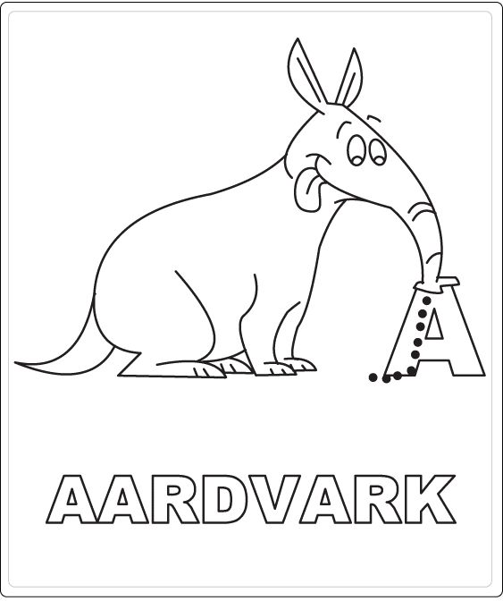 A Of Aardvark Kids Coloring PagesColor