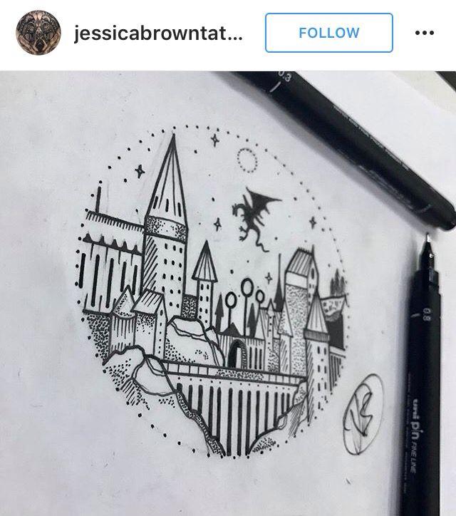 Harry Potter Hogwarts tattoo