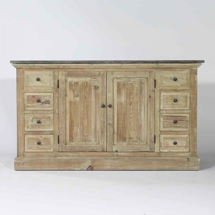 Meuble de salle de bain bois recycle maison pinterest - Meuble bois recycle pas cher ...