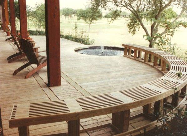 7 best Deck Seating Designs images on Pinterest | Backyard ideas ...