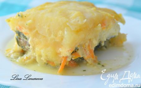 Пирог из рыбы и молодого картофеля от Дж.Оливера | Кулинарные рецепты от «Едим дома!»