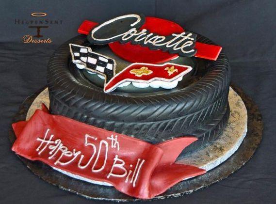 Corvette Birthday Cake                                                       …