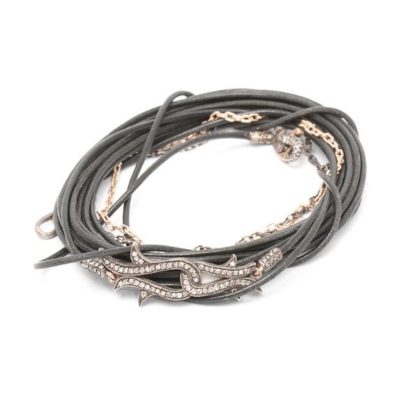 Sevan Bicakci, diamond, rose gold and silver bracelet  www.dresscodebygita.com