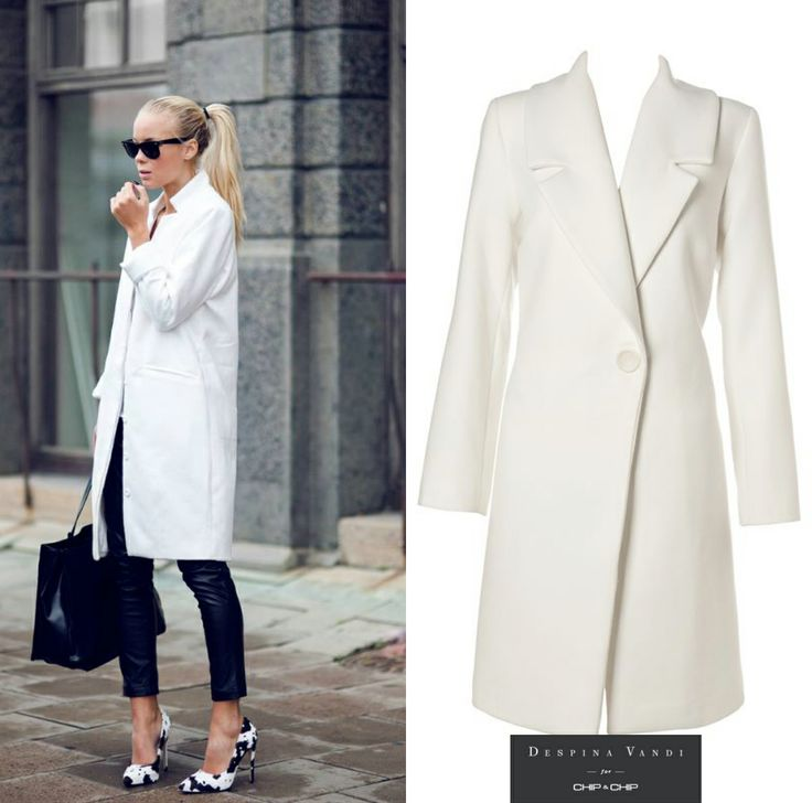 White Coat from DESPINA VANDI FOR CHIP&CHIP COLLECTION for an elegant and a sophisticated look!!!