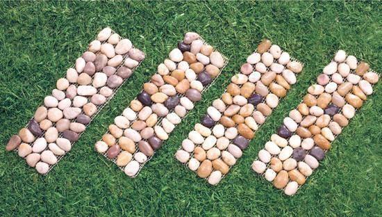 Landscape Pavers Edging : Landscape lawn garden stone edging border panel pavers