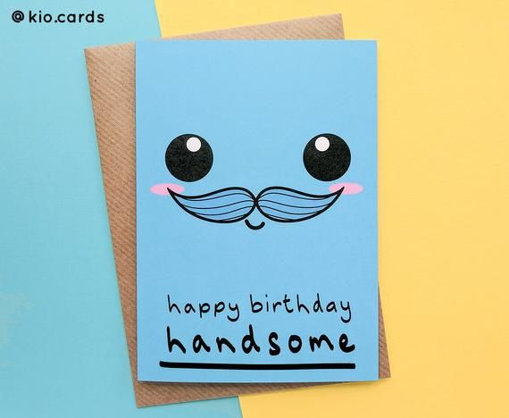 Handsome Husband Birthday Card Husband Kawaii Face Husband Etsy Husband Birthday Card Creative Birthday Cards Birthday Gifts For Boyfriend Diy