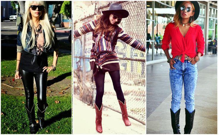 Amora Rosa: Como Usar: Botas texanas (cowboy).