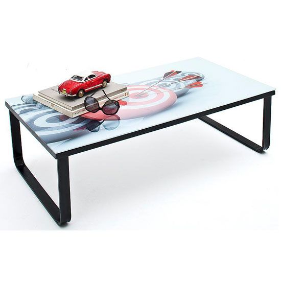 Dardo Coffee Table In Glass Top With Black Metal Frame 5995 Coffeetable And