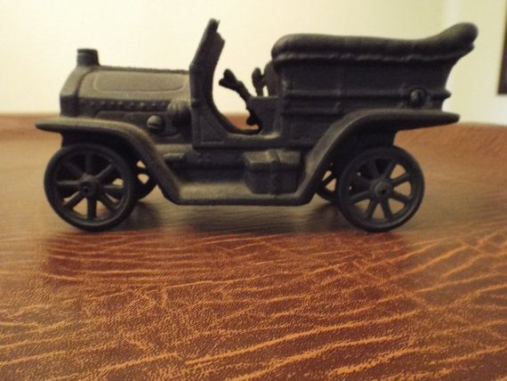 Antique Toy Cast Iron Car Right Hand Driver  Old by burnedbunny