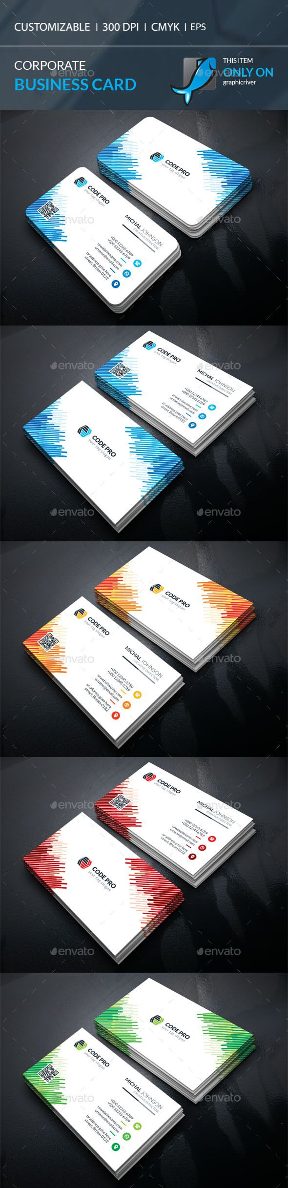211 best business cards images on pinterest business card design corporate business card template vector eps ai illustrator download here https wajeb Image collections