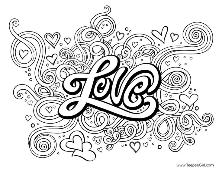 Printable Coloring Pages For Adults Love : Best images about adult colouring hearts love