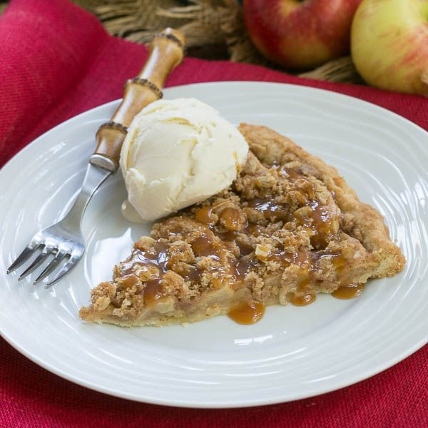 I'm shaking things up by baking an Apple Pie Pizza instead of the usual savory cheese topped variety.