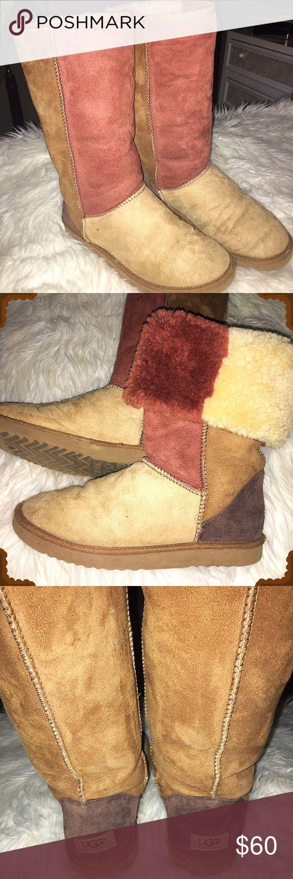 Multi Colored Classic Tall Ugg Boots Multi Colored Classic Tall Ugg Boots. Women's size 10! UGG Shoes Winter & Rain Boots