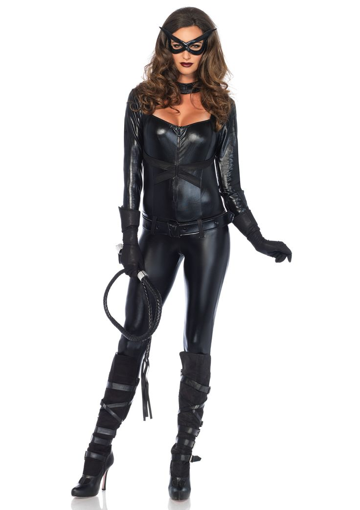 This Halloween you can help fight crime in Kearney with this Cat Girl costume! Maybe just stick to the ground though, no jumping across rooftops. This costume comes with the front zipper jumpsuit, glo