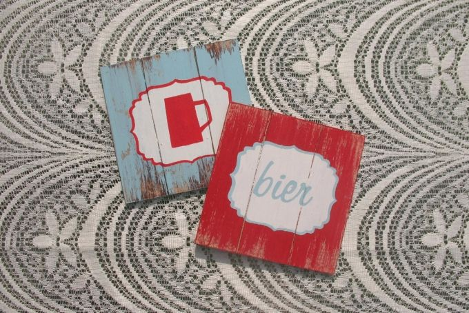 Distressed Wood Coasters by Mossie on hellopretty.co.za