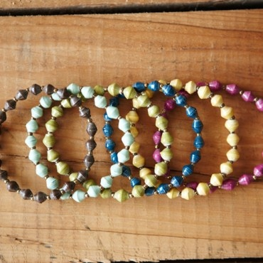 Daphne bracelets - recycled paper beads. Colour your wardrobe now AU$11.95