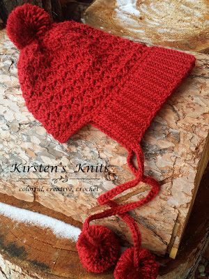 Adult and Child size: Pattern - Cranberry Twist Slouchy Bonnet