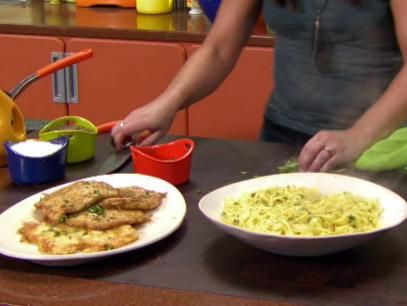 Chicken Francese and Egg Tagliatelle Recipe | Rachael Ray | Food Network