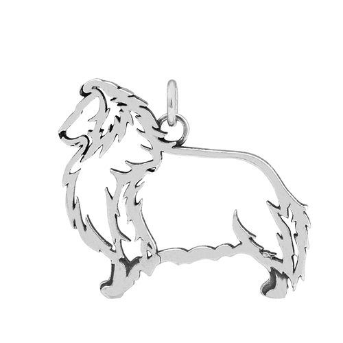 Sterling Silver Sheltie charm, sterling silver Shetland Sheepdog pendant, shetland sheepdog merchandise, AKC breed jewelry, shetland sheepdog jewelry, shetland sheepdog charm, Sheltie gifts, Shetland Sheepdog breed jewelry, Sheltie bling, AKC Sheltie, UKC