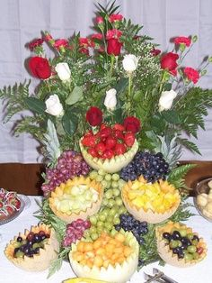 cascading fruit displays | Wedding Reception Food & Beverage Ideas