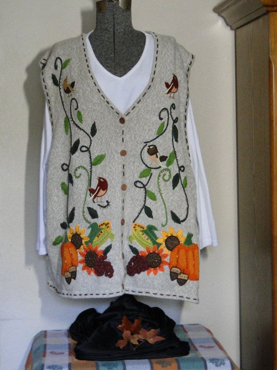 Thanksgiving Sweater Vest Cheap  Jumper  Tacky, Gaudy, Novelty, Holiday, Party,  by ABetterSweaterShop on Etsy 14 on Etsy, $18.99