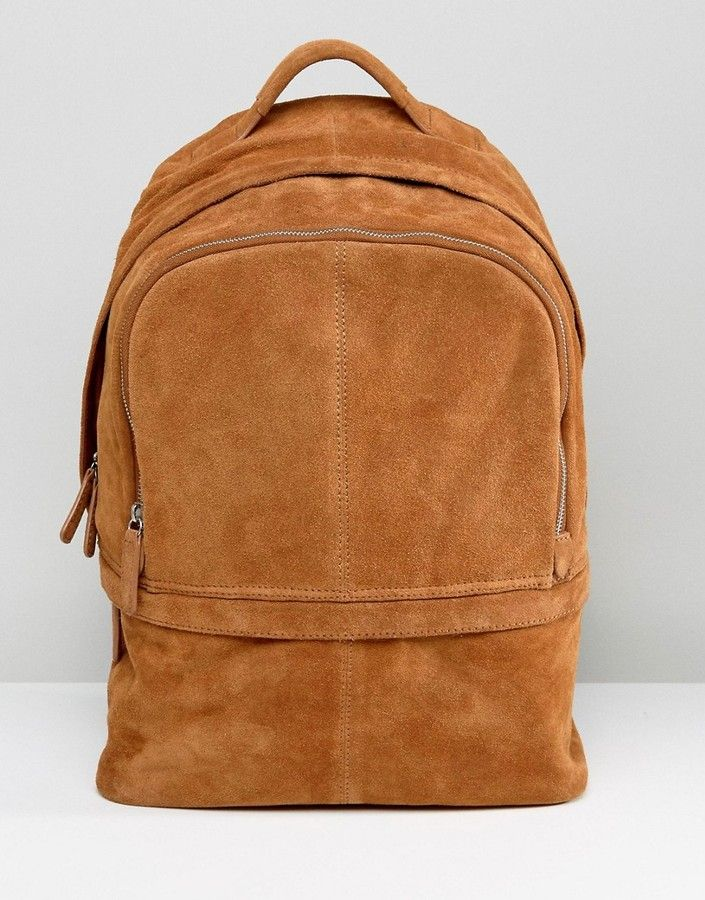 1f087dc8623 ASOS Backpack In Suede In Tan   Bags Love   Pinterest   Bags ...