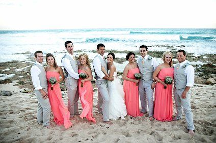 i'm digging the coral and gray...i think i'm gonna do that and have the other 2 colors in other places...just not in my bridal party.
