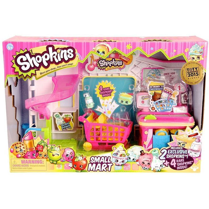 Shopkins Small Mart & 4 Rare Shopkins Play Set - Top Toy - New in Box #Shopkins