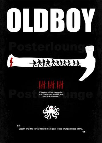 Poster Oldboy - Minimal Film Movie Fanart Alternative
