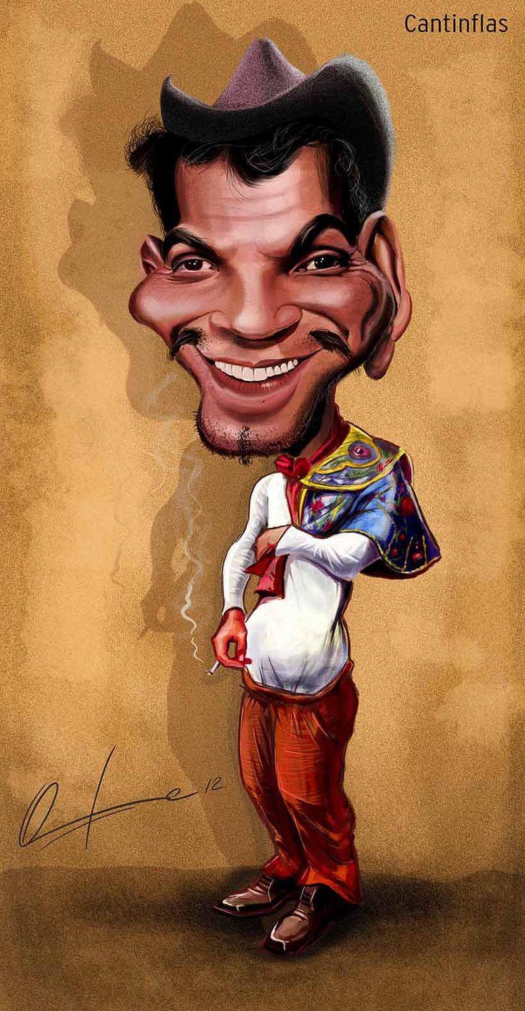 Caricatura de Cantinflas.