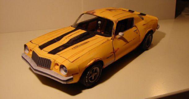 Paper Toy Camaro 1976