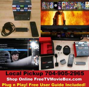 PRELOADED FIRE STICKS ONLY $89 PRELOADED TV BOXES ONLY $99 (Limited Time Only) One time fee...No monthly bill ever!!! Save over $100/month! Cut the cable. Stop paying for Netflix, HULU, and DVDS! Watch 1000s of live TV channels LIKE ESPN, HBO, ESPN, TBS, TNT, and more using just your home internet FOR FREE WITH NO MONTHLY BILL! Watch every NFL, NBA, NCAA, UFC pay per view, WWE, cricket...game FOR FREE! Brand new in theater and classic movies FREE! Every season of every TV show on demand…