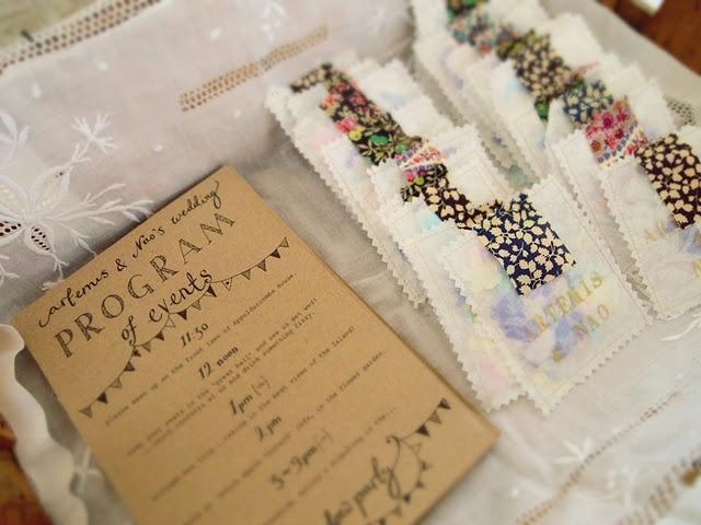 bunting wedding invite