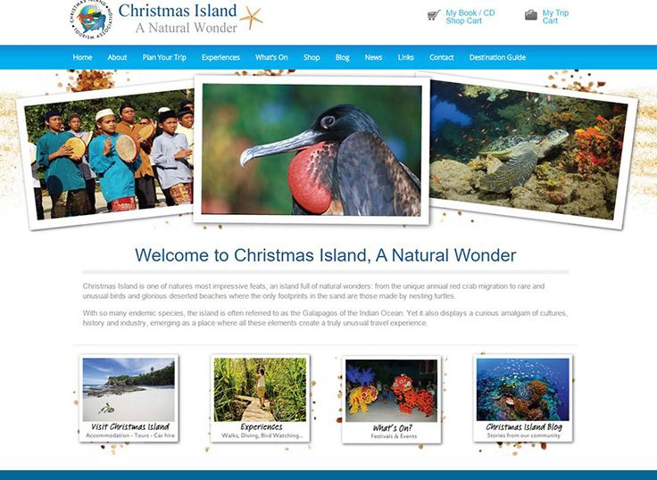 Christmas Island Tourism Association was developed to show off beautiful Christmas Island,  it has a booking portal for accommodation, tours and car hire. It has also a blog and private media gallery and and online shop.…