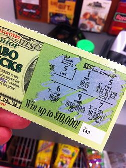 "buy a lottery ticket and attach a note that says, ""I hit the jackpot when I met you!"""