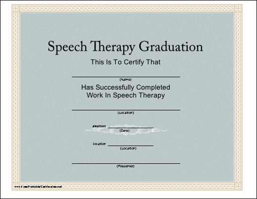 77 best SLP Certificate Freebies images on Pinterest School - printable certificates of completion