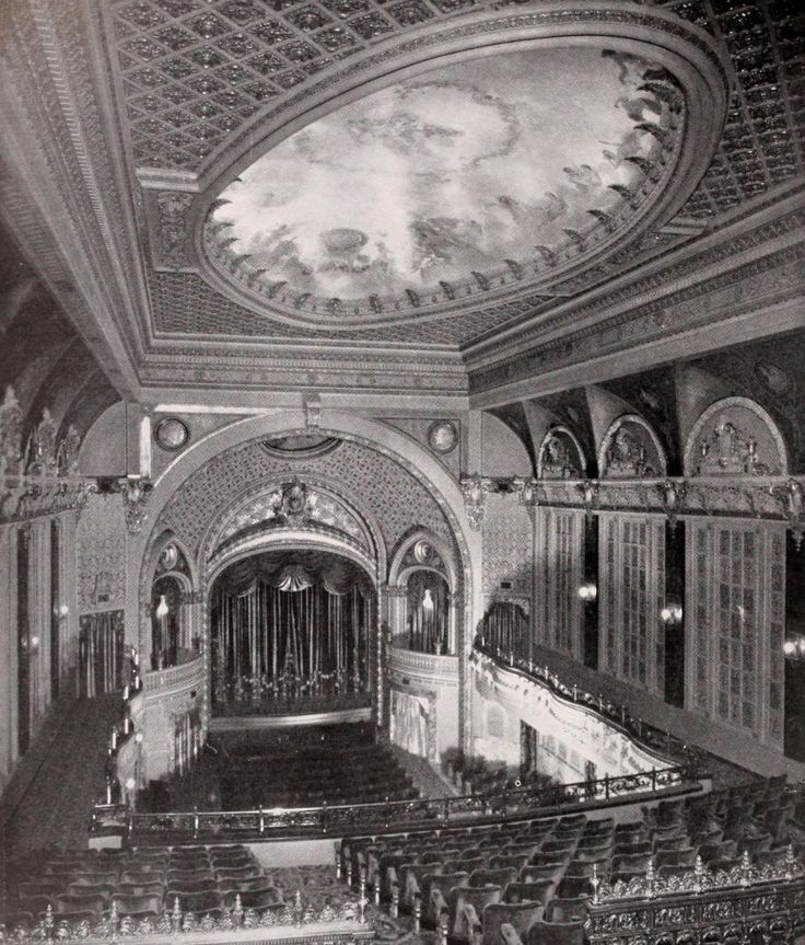 """Motion Picture News, March 3, 1928: """"Harnessed with seemingly an impossible situation, the architect of the Tower theatre, Los Angeles, has devised a most ingenous solution of the problem of erecting... #losangeles #broadway #towertheatre"""
