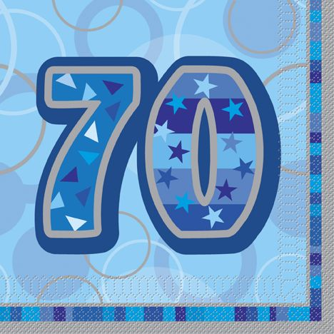 mixed paper napkins in shade of blue | extra thick 3 ply luncheon Birthday Glitz Blue 70 Party Paper Napkins ...