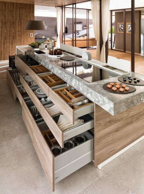 Kitchen furniture G490 Blanco Mate, rangement tiroirs cuisine