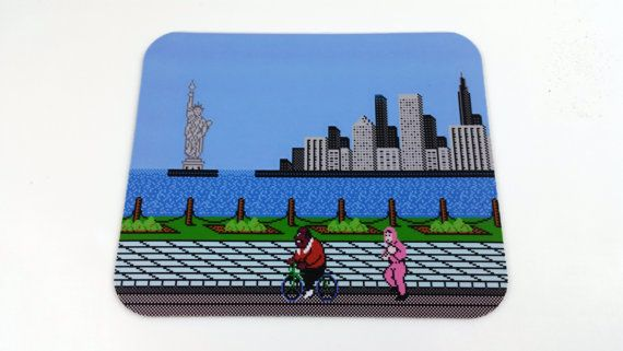 NES Mouse Pad  Mike Tyson's Punch Out by 8BitMemory on Etsy