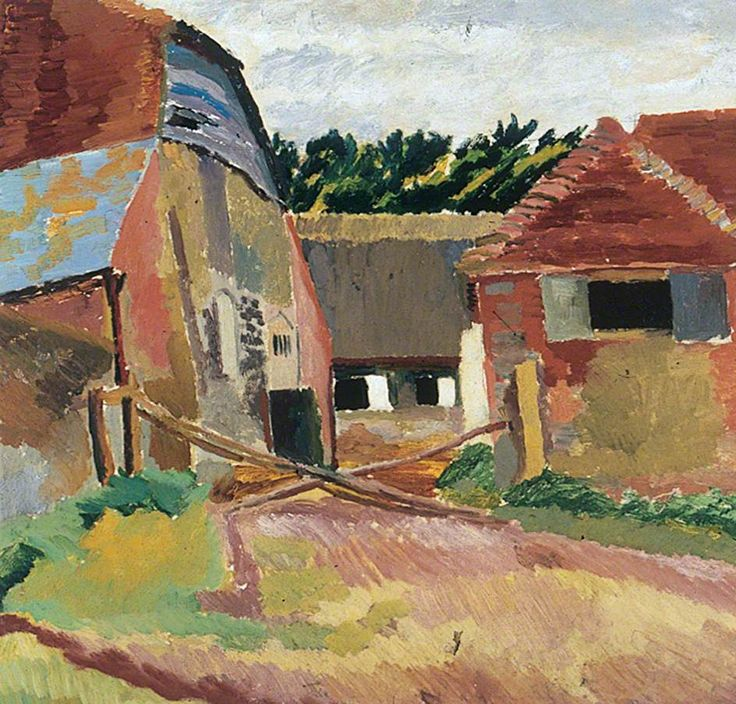 Farm Buildings at Charleston, East Sussex, Duncan Grant (1885–1978), The Stanley & Audrey Burton Gallery, University of Leeds