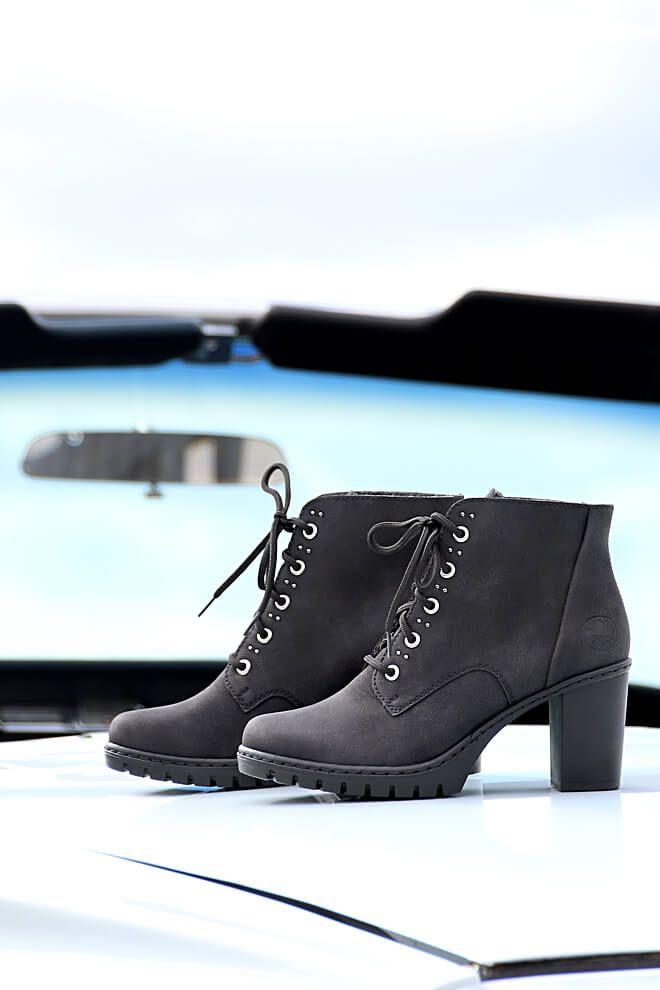 Rieker Damen Stiefelette schwarz Y2513 00 | Stiefeletten