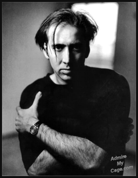 Nicholas Cage...in case y'all didn't know he's a freaking vampire! Like for real..